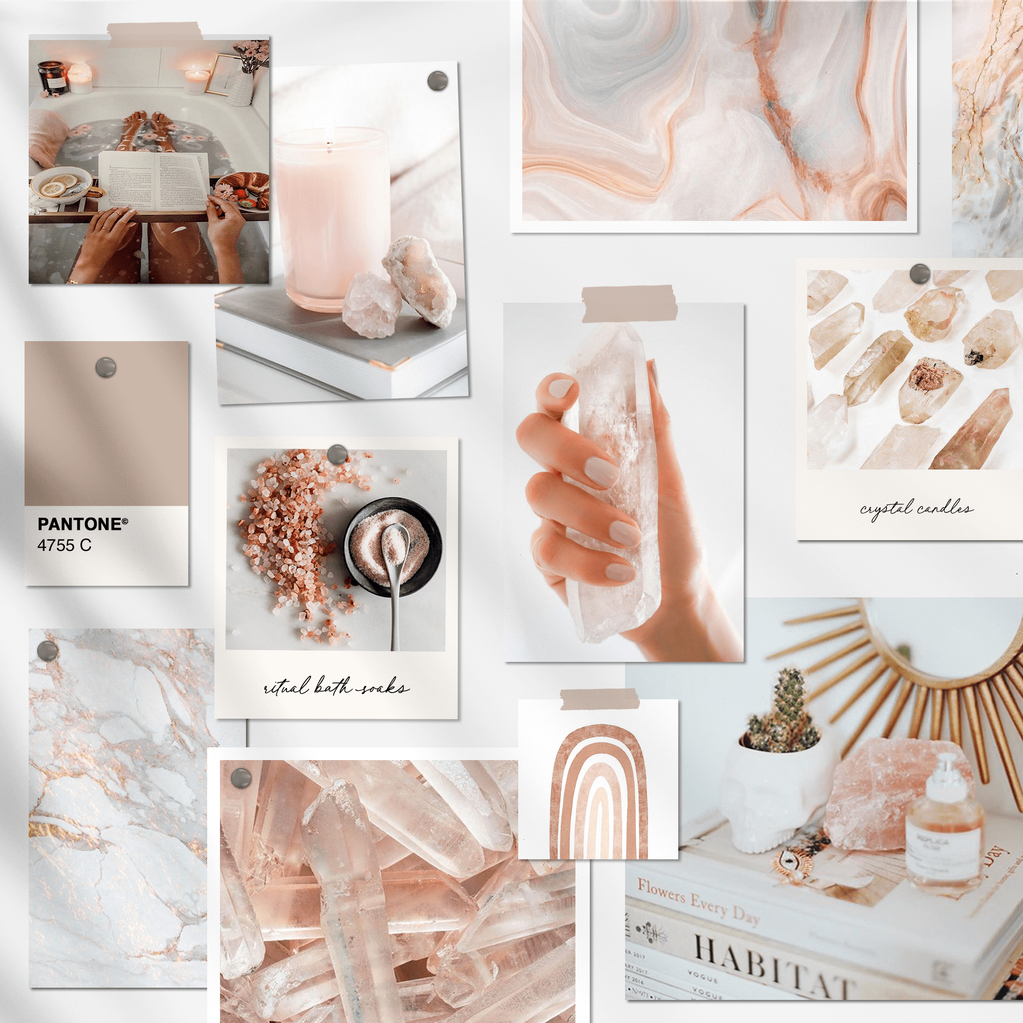 Crystal mood board