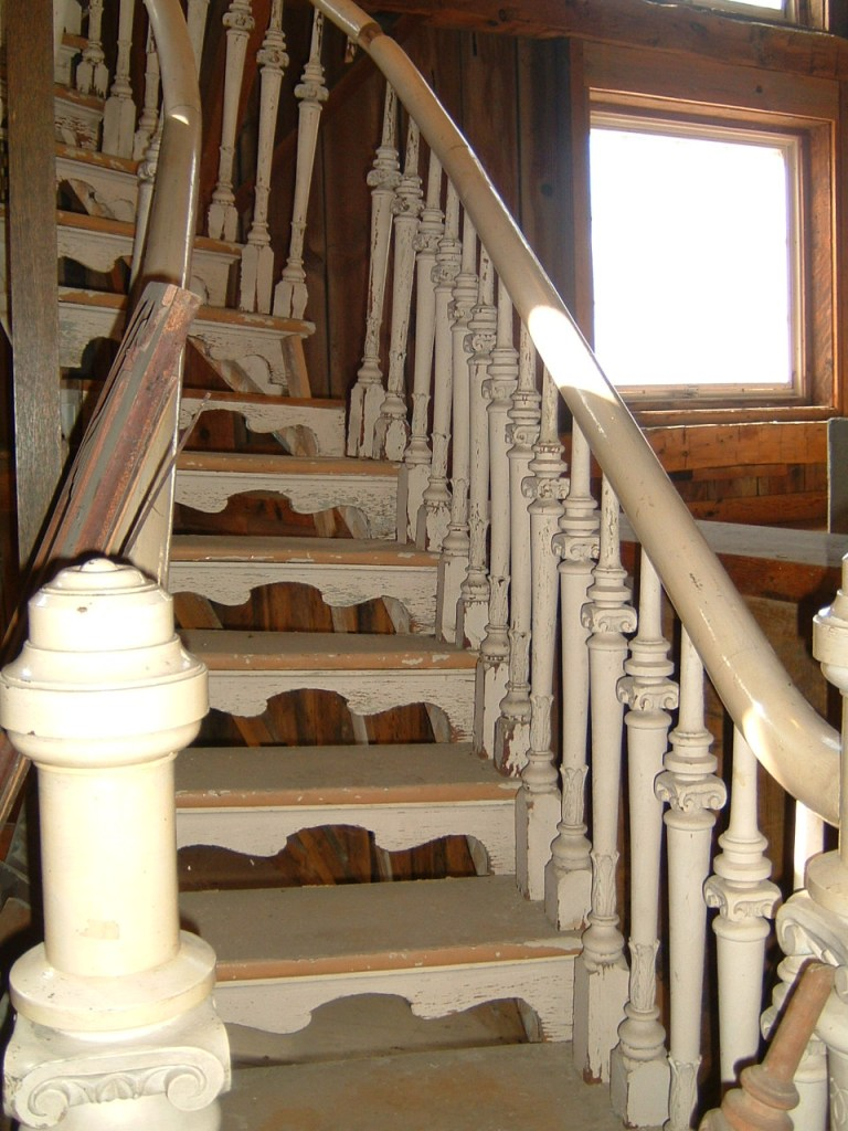 Salvaged staircase from Quebec church circa 18thC.