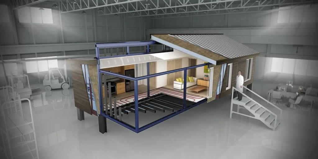Blu homes cutaway