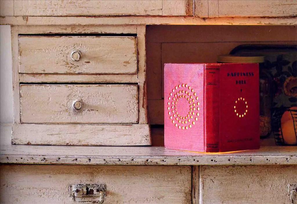 Repurposed books into disctinctive objects