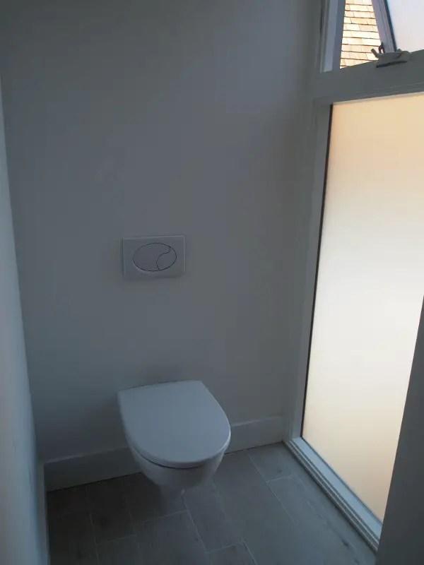 Dual flush toilets (tank hidden in wall)
