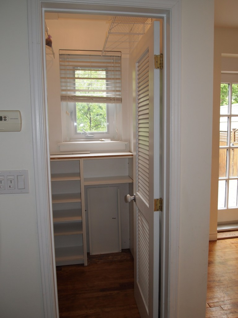 Pantry - notice small window