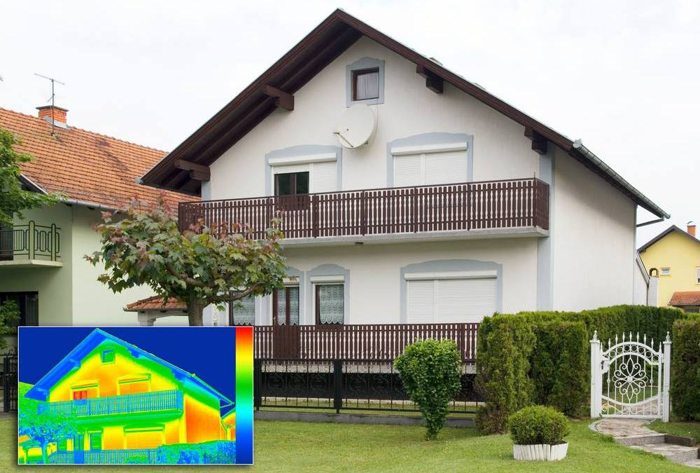 Thermal imaging to show heat loss