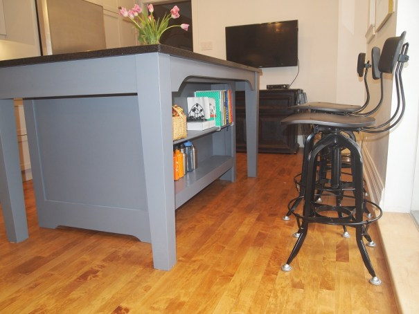 """Outside"" view of kitchen island"