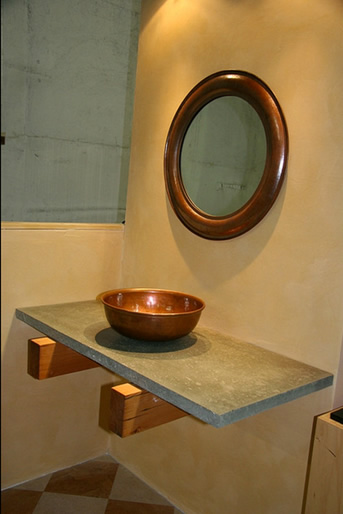 A reclaimed and beautifully designed shelf made and sold by Squak Mountain Stone