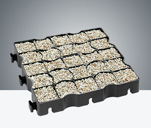 Ecoraster system for permeable driving surfaces