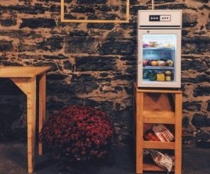 BonApp fridge for sharing food in the community