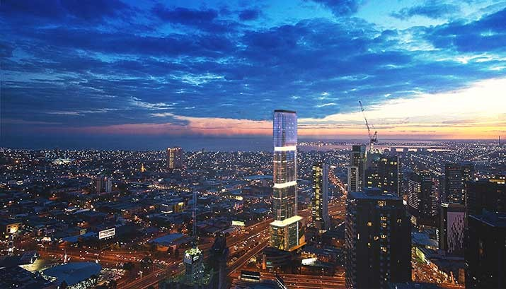 Sol Invictus - artist's rendering. http://www.pta.com.au/news/australias-first-off-the-grid-solar-powered-high-rise-planned-in-melbourne