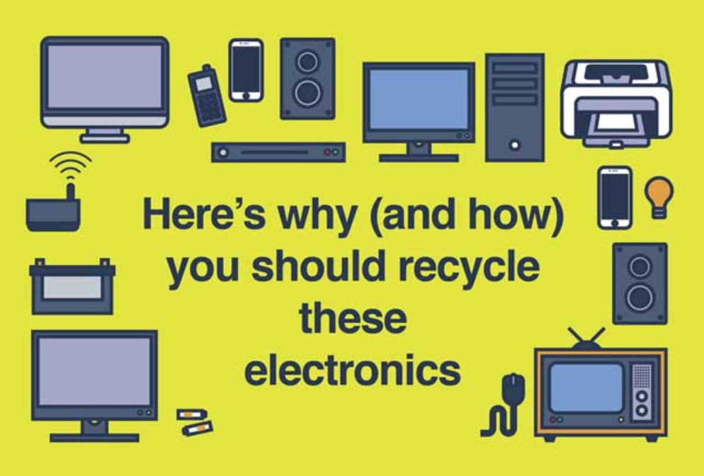 Recycle your electronics infographic