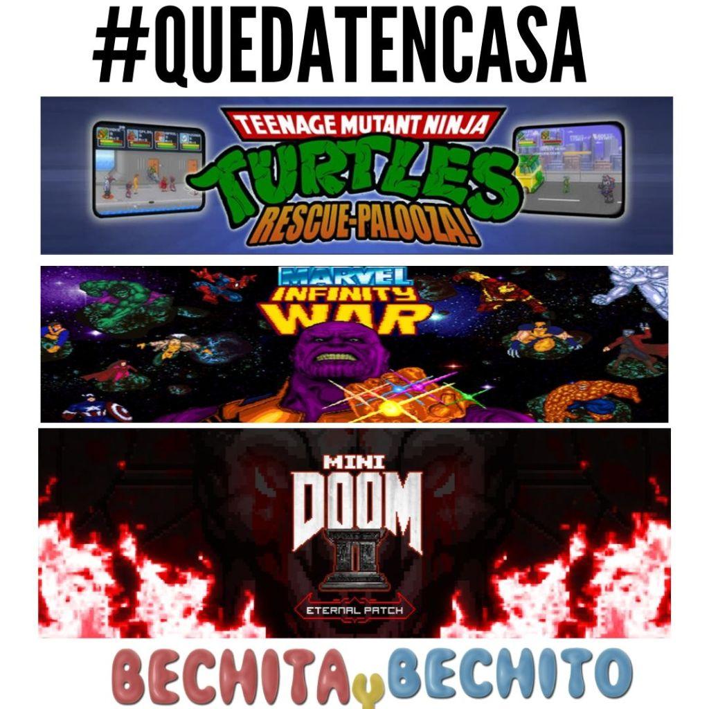 video juegos para pc tortugas ninja marvel infinity wars mini doom quedaencas