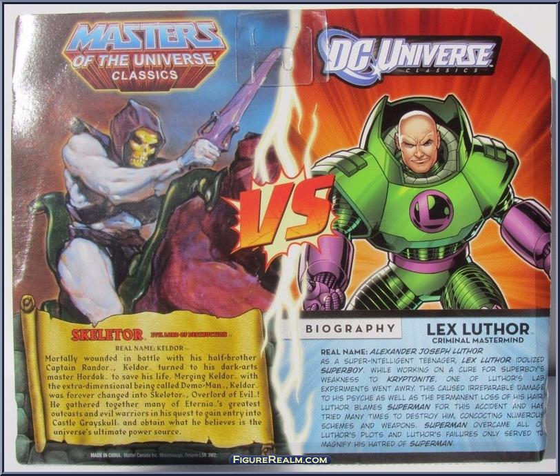DC Universe vs Masters of the Universe LexLuthorSkeletor Back