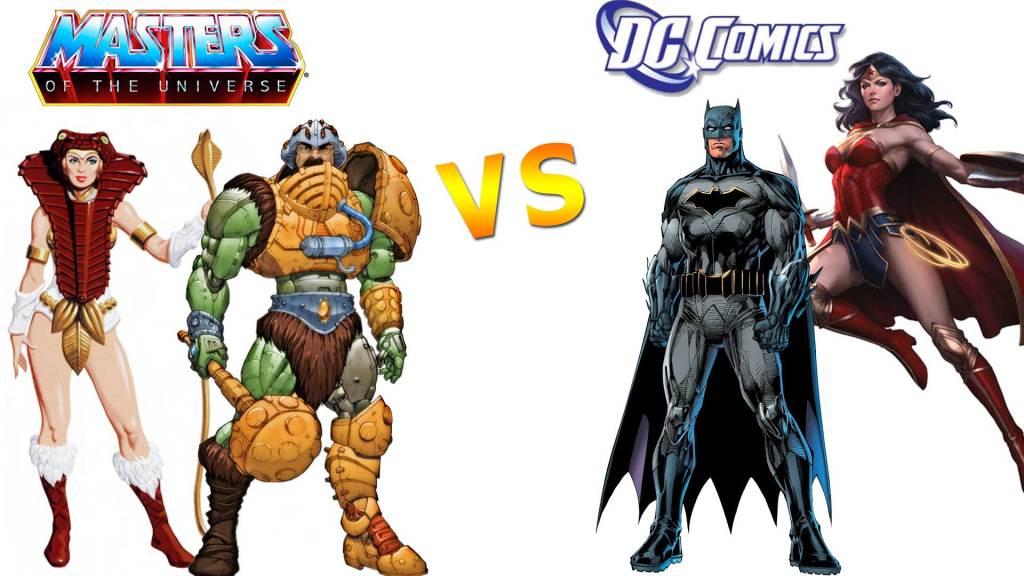 DC Universe vs Masters of the Universe batman man at arms wonder woman teela 1