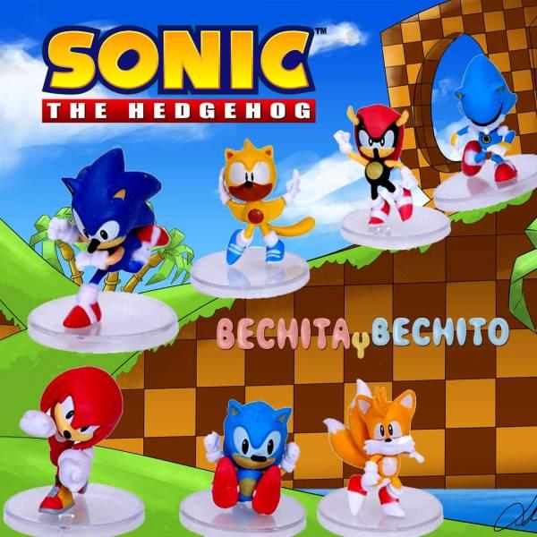 Sonic World figuras set de 7 gashapones