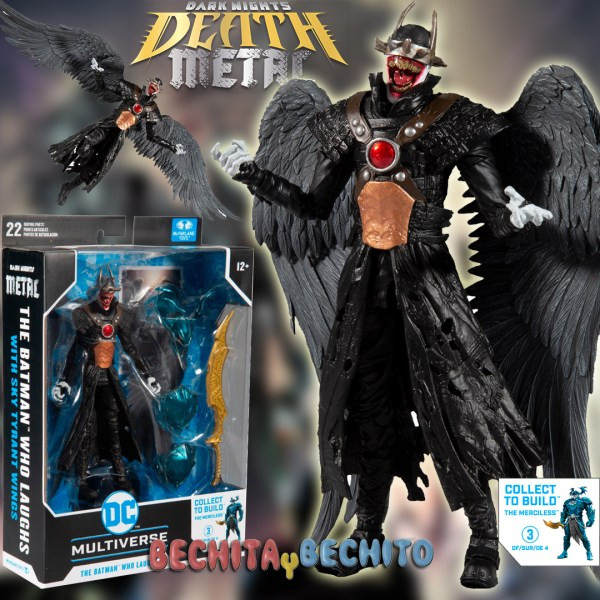 Batman Who Laughs McFarlane Toys with Sky Tyrant Wings
