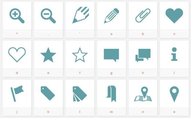 Sosa ikon font fra Ten by Twenty