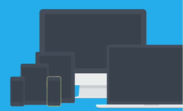 Apple Devices i Flat Design