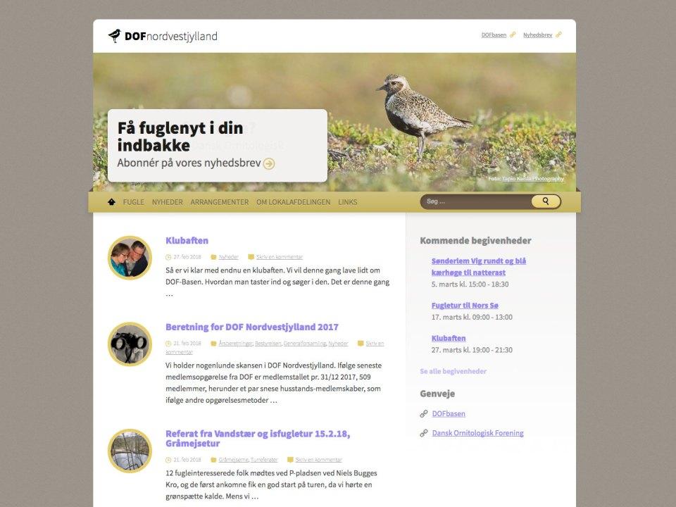 Screenshot af dof-nordvestjylland.dk