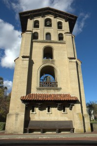 72-foot Spanish Mission-style El Campanil Bell Tower at Mills College Oakland, California
