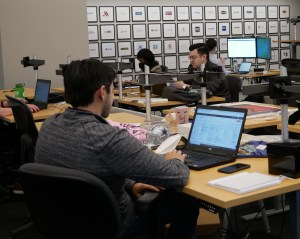 people working in the Beck Technology office
