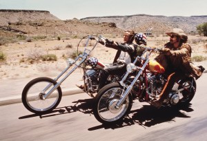 photo taken from the film, Easy Rider