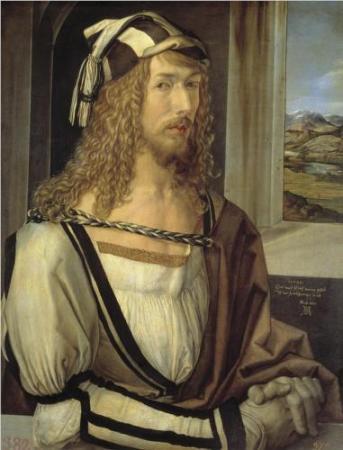 Self-Portrait of Albrecht Dürer at 26 (1498).