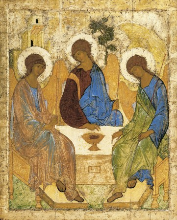 Andrei Rublev's famous Holy Trinity Icon.