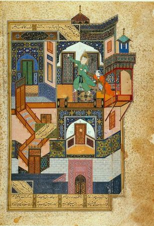 Part of the poet Saadi's story of Yusef and Zuleykha, as illustrated by Kamal al-Din Bihzad.