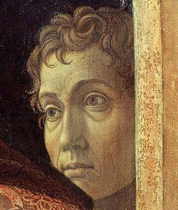 Possible self-portrait of Andrea Mantegna in The Presentation of Christ in the Temple (1465-1466).