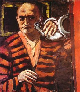 Max Beckmann - Self-Portrait with Horn.