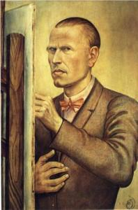 Self-Portrait with Easel, by Otto Dix.