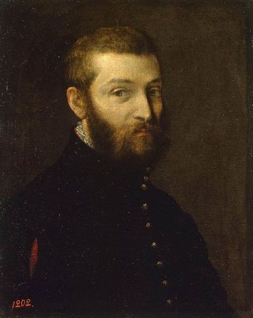 A Self-Portrait of Paolo Veronese (c. 1558-1563).