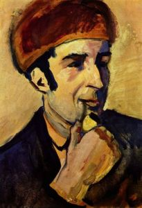 Portrait of Franz Marc, by August Macke (1910).
