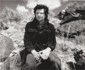 Robert Smithson, photographed by Gianfranco Gorgoni (1970).