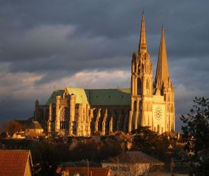 Monet painted Chartres Cathedral in many different lights.