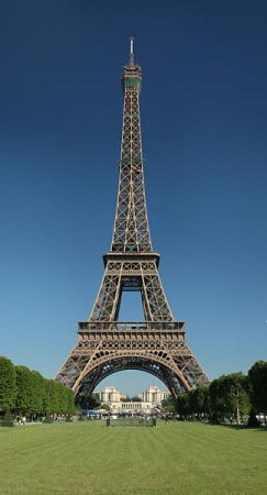 The Eiffel Tower in Paris, France.