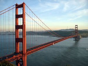 The Golden Gate refers to