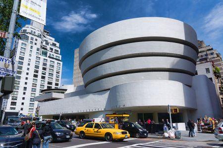 The Solomon R. Guggenheim Museum, by Frank Lloyd Wright, in New York City.