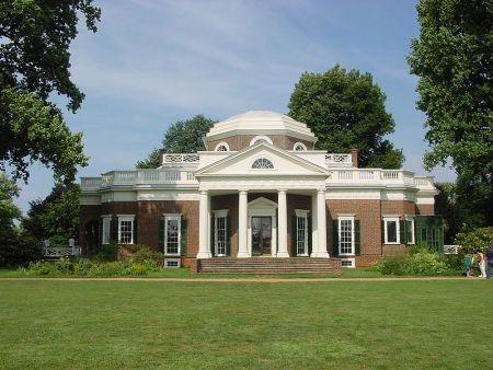 Thomas Jefferson designed Monticello, his Virginia estate.
