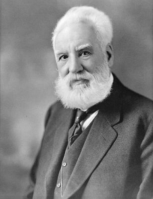 A photograph of Alexander Graham Bell taken at Moffett Studio between 1914 and 1919. It is now part of the Library and Archives of Canada in Ottawa.
