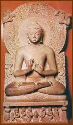 A statue of the Buddha preaching the law, from Sarnath, India (4th Century CE).