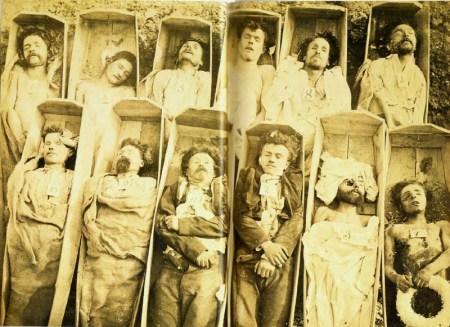 Communards in their Coffins.