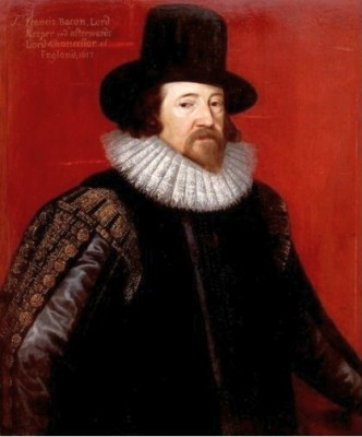 A 1617 portrait of Francis Bacon by Frans Pourbus the Younger. It is located in the Palace on the Water, Warsaw.