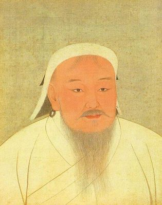 Genghis Khan, as depicted in a 14th Century album of Yuan emperors. The album is now in the National Palace Museum of Taipei.