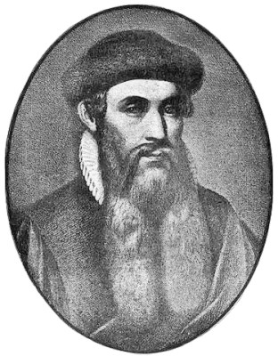 A portrait of Johannes Gutenberg made shortly after his death in 1468.