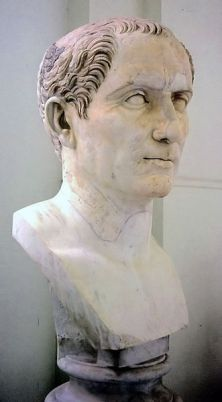 Bust of Julius Caesar in the National Archaeological Museum of Naples. It is a 110 CE copy of a 50 BCE original.