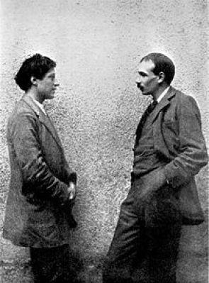John Maynard Keynes (right) with painter Duncan Grant.