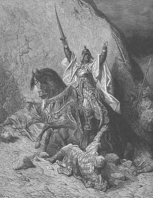 Saladin the Victorious, in a 19th Century engraving by Gustave Doré.