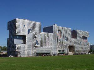 Simmons Hall at MIT.