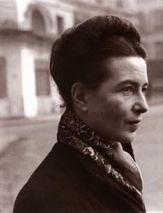 Simon de Beauvoir in 1946. Photo by Henri Cartier-Bresson.