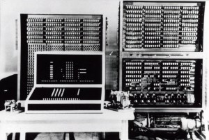 A reconstructed model of Konrad Zuse's Z3 computer. The original was destroyed by Allied bombing in World War II.